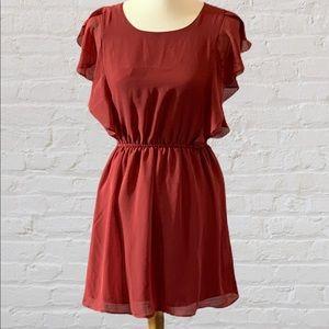 Forever 21 Burgundy Midi Dress